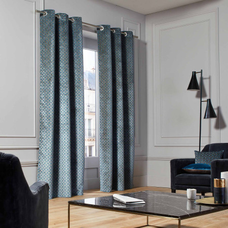 Curtain Oscar blue