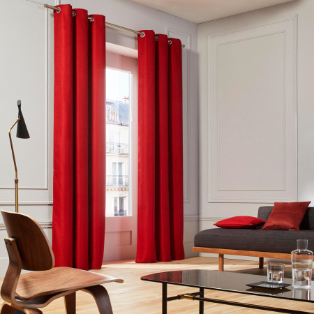 Curtain Coconut red