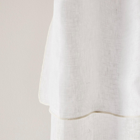 Voile curtain panel Shadow white