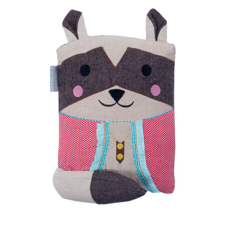 Filled pillow Mr. raccoon multicolor