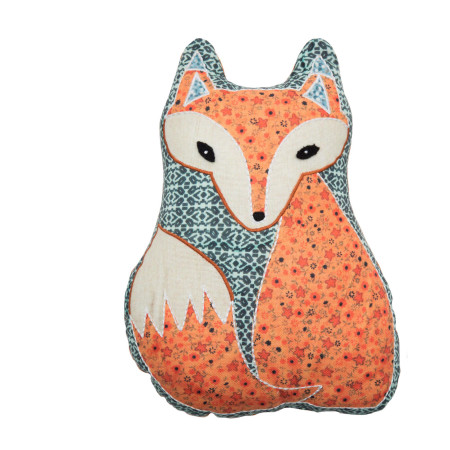 Filled pillow Wise fox multicolor