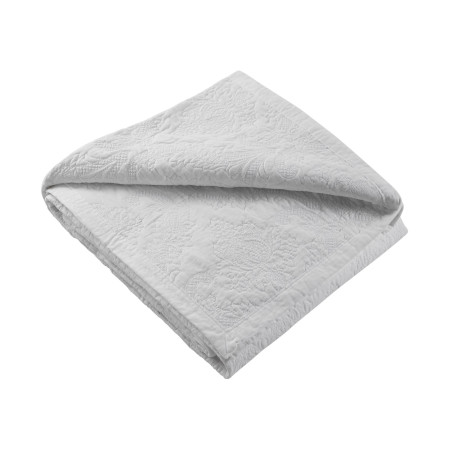 Quilted bedspread Elise white