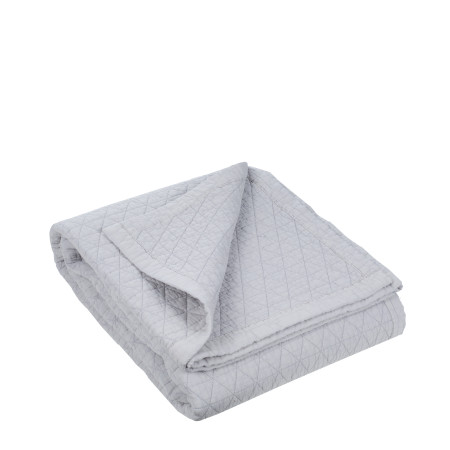 Quilted bedspread Kaleidoscope grey
