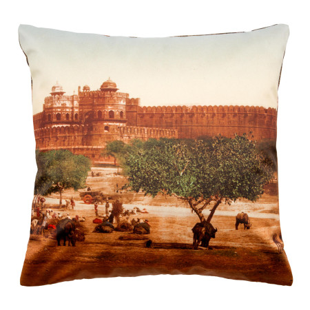 Pillow cover Agra brown