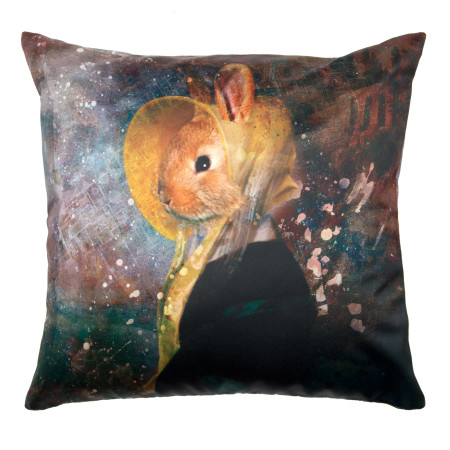 Pillow cover Antique rabbit multicolor