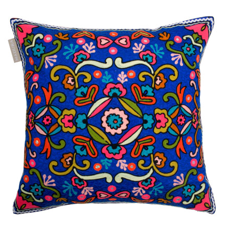 Pillow cover Ashram blue