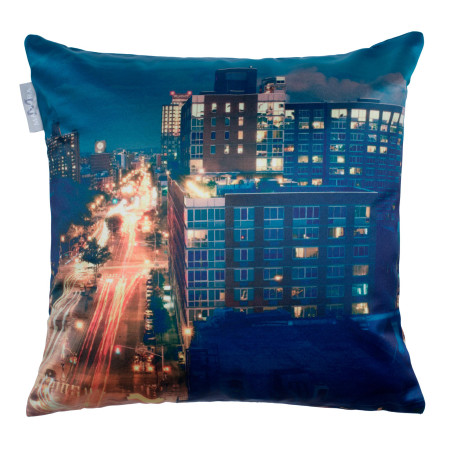Pillow cover City nights blue
