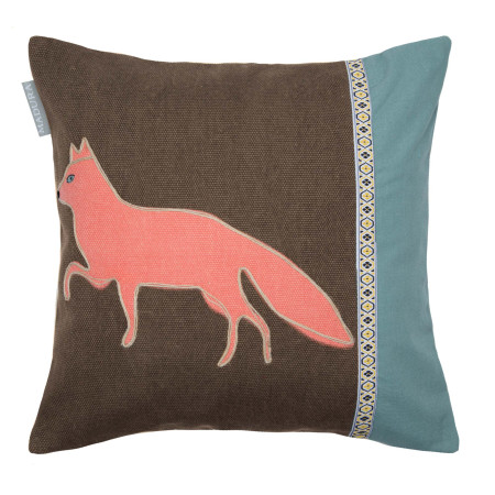 Pillow cover Forest fox blue