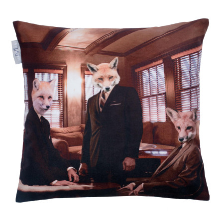 Pillow cover Fox club multicolor