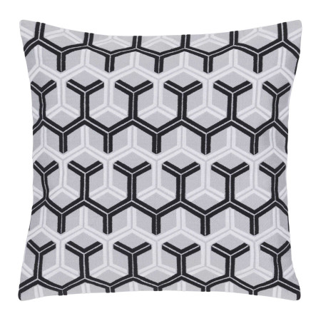 Pillow cover Hexagon white