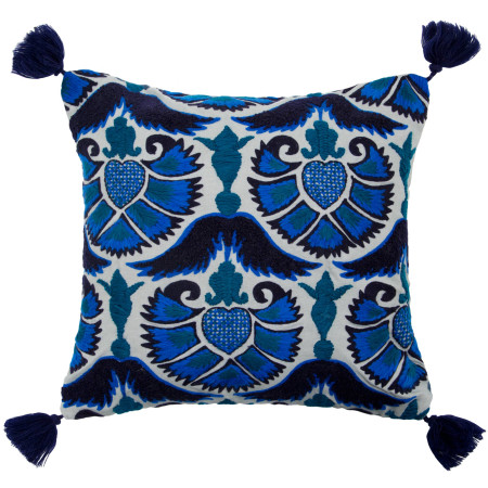 Pillow cover Jazzy peacock blue