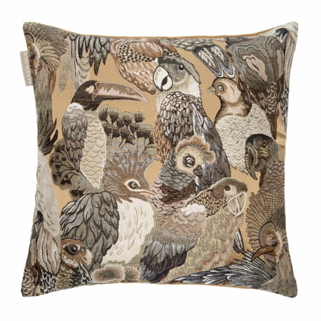Pillow cover Jungle birds natural