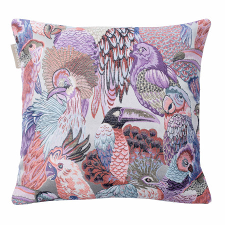 Pillow cover Jungle birds purple