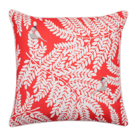Pillow cover Laurel red