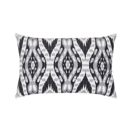 Pillow cover Snake ikat white