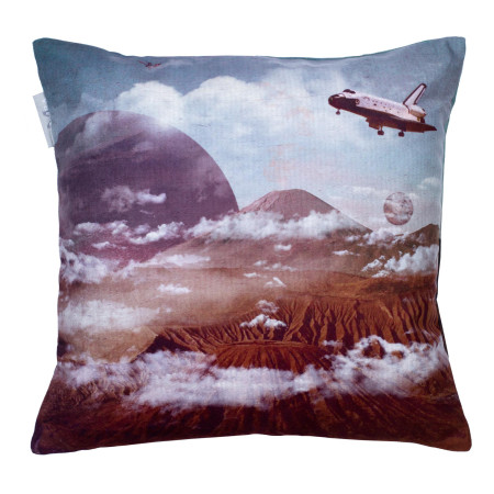 Pillow cover Spaceship blue