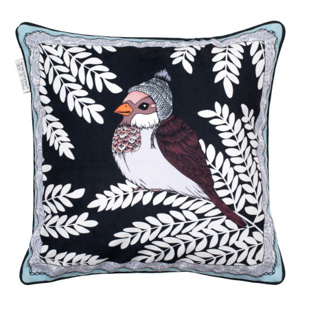 Pillow cover Sparrow blue