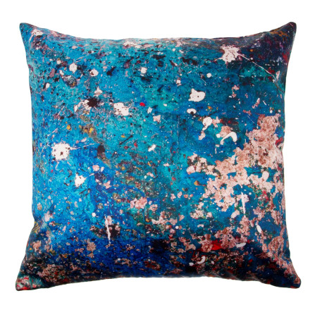Pillow cover The wall blue