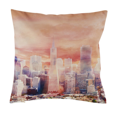 Pillow cover Towers orange