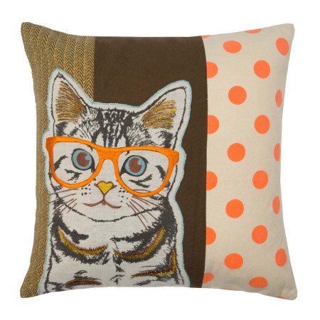 Pillow cover Wise cat multicolor