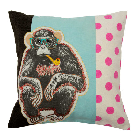 Pillow cover Wise monkey multicolor