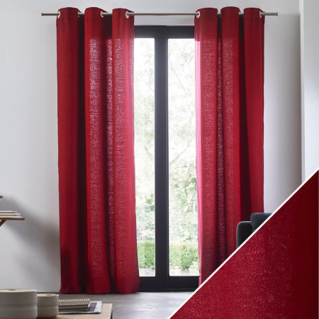Curtain Aubin red