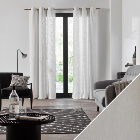 Curtain Bellevue white