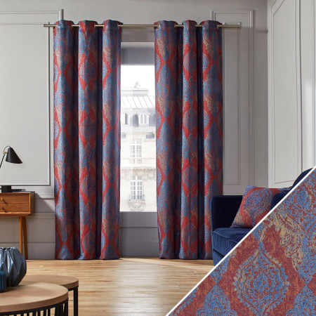 Curtain Theodora blue