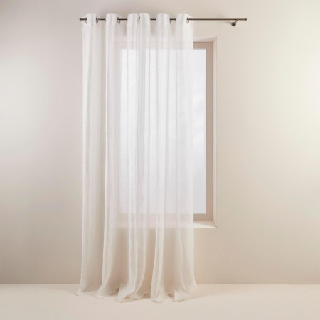 Sheer curtain with grommets Shadow white